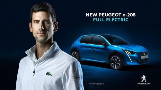 Нова рекламна кампания на PEUGEOT e-208 с Новак Джокович (Видео)